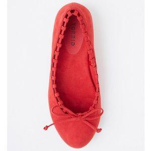 torrid Red Whip Stitch Almond Toe Flats